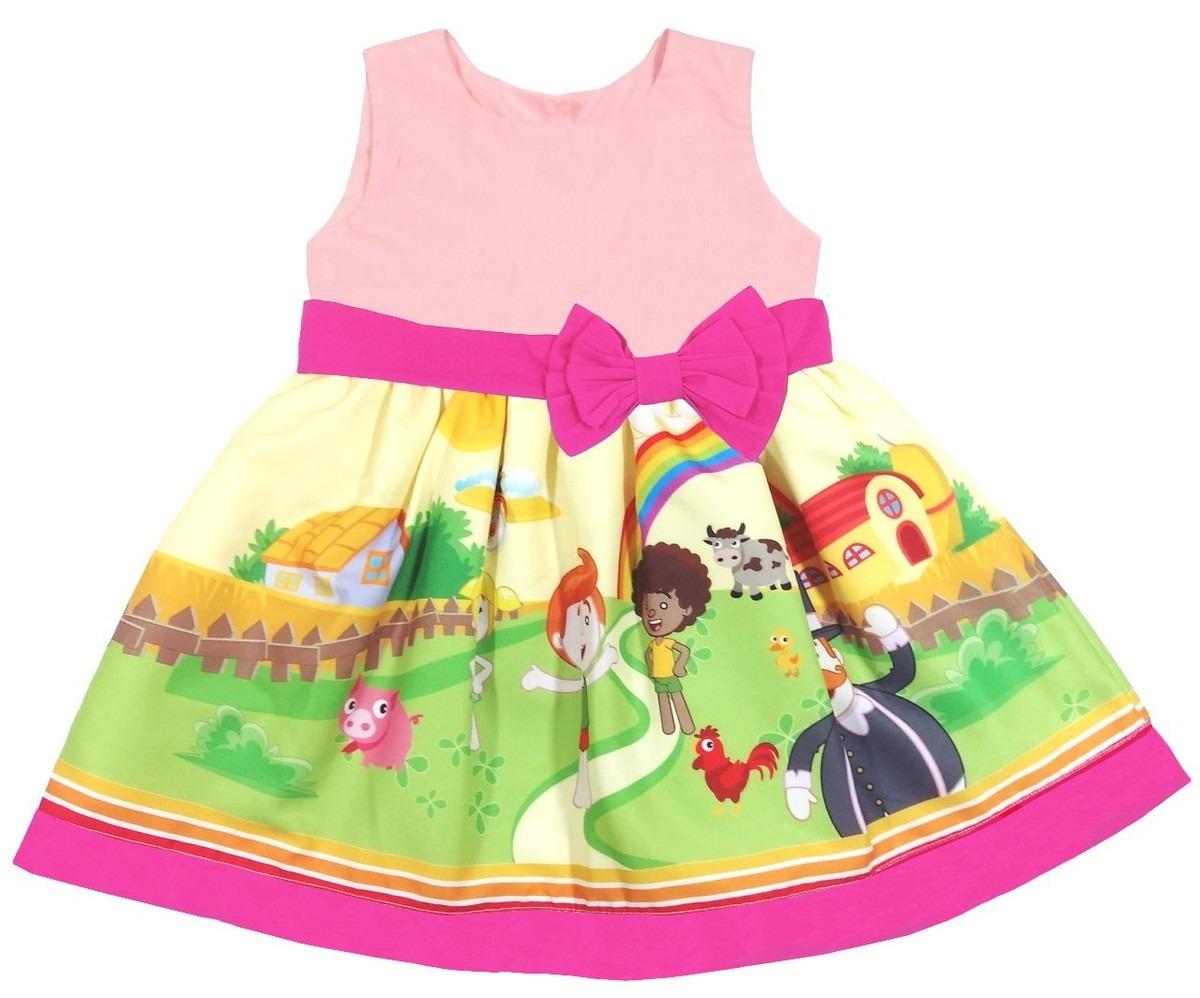 651f4609d6 vestido infantil mundo bita rosa temático festa roupa. Carregando zoom.
