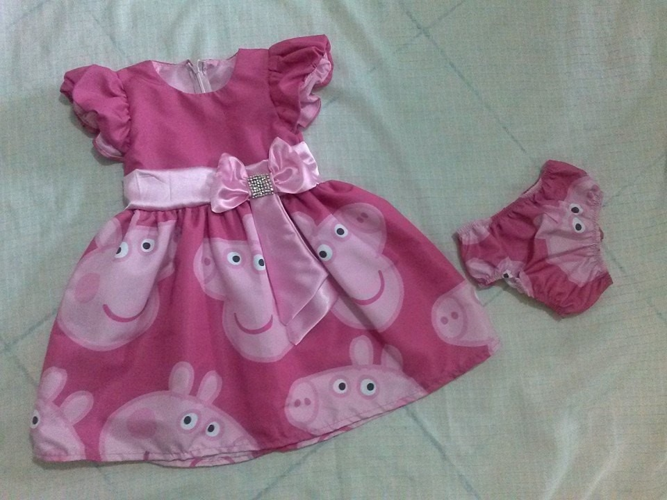 Zoom · Vestido Peppa Pig MANGA CURTA