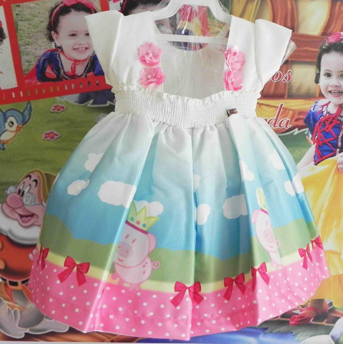 d7cfde50b vestido infantil peppa pig. Carregando zoom.