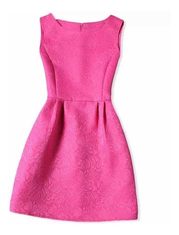 Vestido Infantil Pink Luxo Festa Casamento Tamanho 12