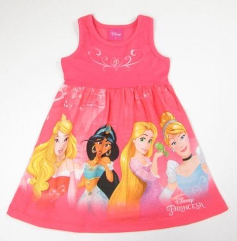 4cb840efd61643 Vestido Infantil Princesas Menina Brandili