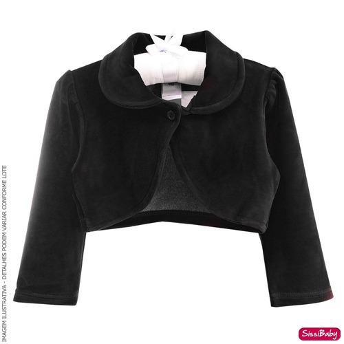 vestido infantil realeza barbie daminha com bolero preto