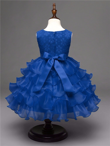 vestido infantil renda babado casamento festa dama daminha