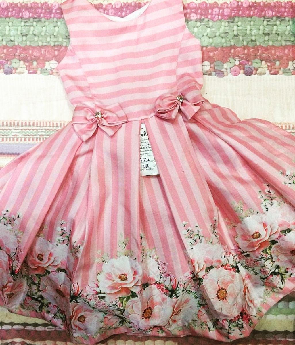 952f85693fd8 Vestido Infantil Rosa Com Estampa Floral Tamanho 10 - R$ 100,00 em ...