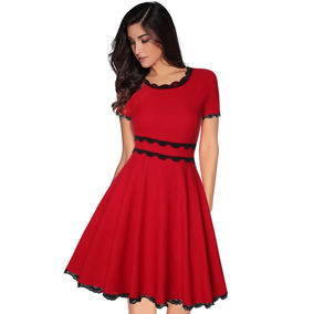 c2b84091b Vestido Largo Nucleo Liso C Vestidos Casuales Mujer - Vestidos Rojo ...