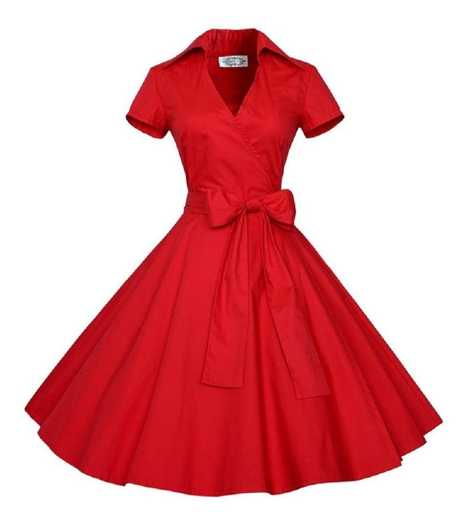 65e815885 Vestido Informal Estilo Vintage Con Falda Acampanada P/mujer