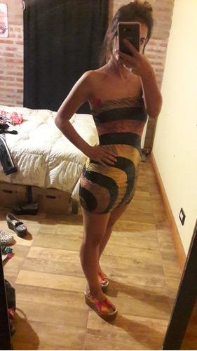 vestido italiano corto, con lentejuelas, talle 1, nuevo