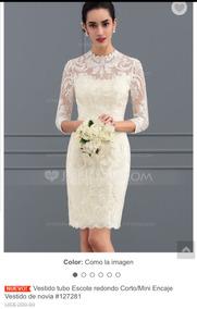 3b625b4435 Vestido Novia Civil Color Perla - Vestidos De novia Corto de Mujer ...