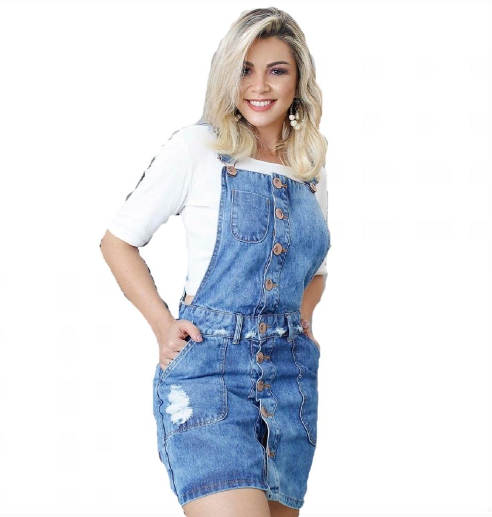b3c647395 Vestido Jardineira Jeans S/ Lycra Feminino Vintage Salopete - R$ 120 ...