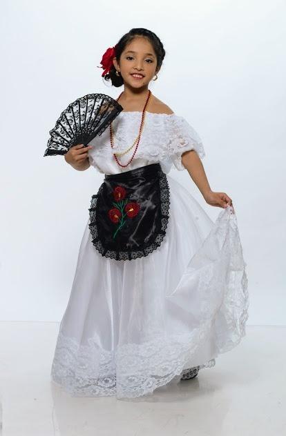 Vestido Jarocha Veracruzana Regional Tipico Veracruz Disfraz