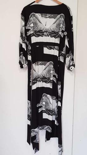 vestido jazmín chebar blanco/negro t1 hermoso!!!