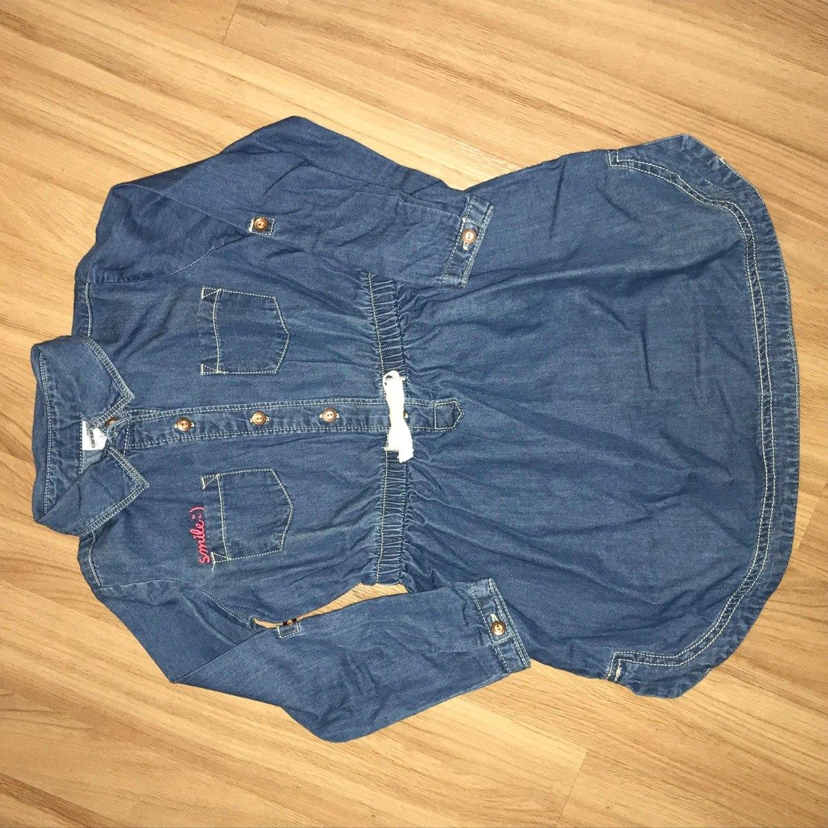 864c90d90cec62 Vestido Jeans Da Carters, Roupa Infantil Menina 4 Anos, Novo
