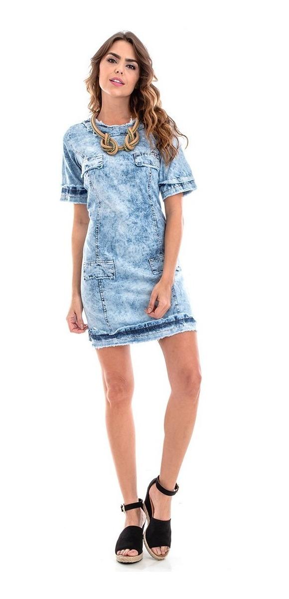 140a1444a vestido jeans estonado feminino com detalhes de destroyed. Carregando zoom.