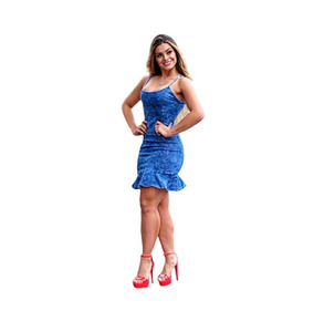 0123a6aab Saia Jeans Kauany Da Planet - Vestidos Casuais Femininas no Mercado ...