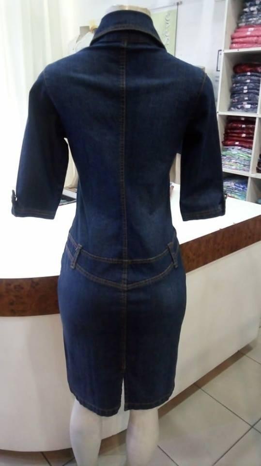 def4d81e16 vestido jeans feminino moda evangélica promoção la séve 5094. Carregando  zoom.