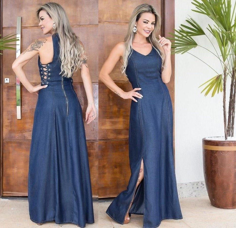 Vestido Jeans Longo New Look 2018 Promoçao Hojeee