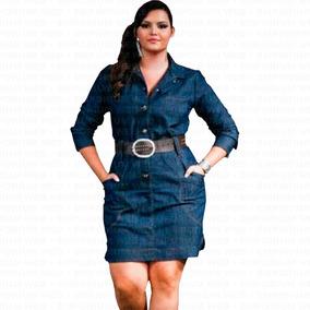 cfcf81519 Vestido Jeans Plus Size - Vestidos Femeninos com o Melhores Preços no  Mercado Livre Brasil