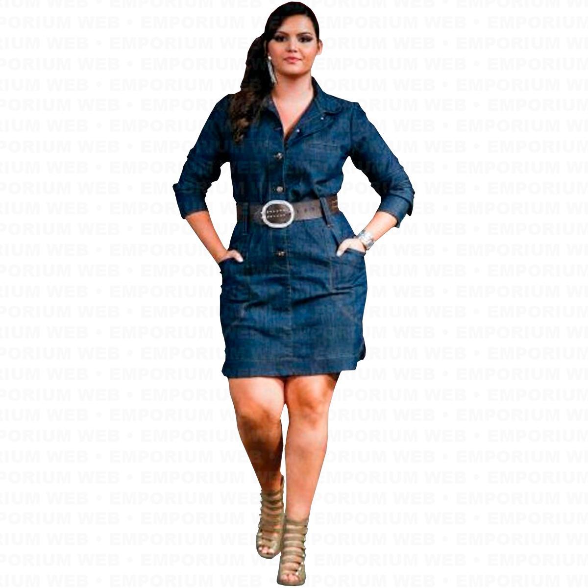 f61d352cc6 vestido jeans manga longa plus size g1 g2 g3 moda blogueira. Carregando zoom .