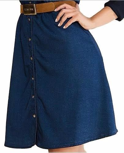 vestido jeans moda evangelica titanium 23125