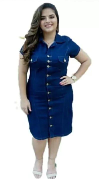 670d615ab25c3a Vestido Jeans Plus Size Barato Roupas Femininas Promocao