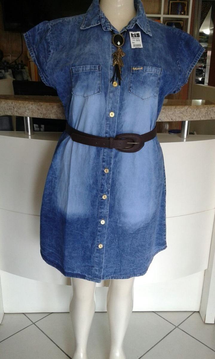 5dd8b2fc4 Vestido Jeans Plus Size G 46/48 Gg 50/52 Executiv Evangelica - R$ 79 ...