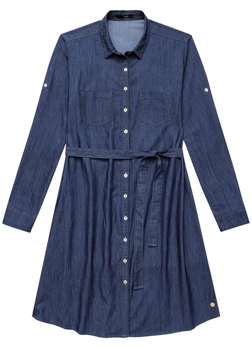 a7363bba2 vestido jeans plus size malwee extra grande - wee feminino. Carregando zoom.