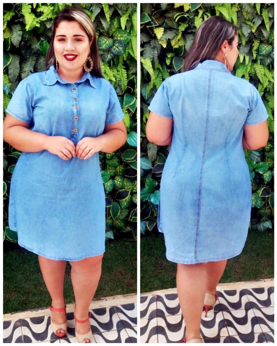 832560754 Vestido Jeans Plus Size Moda Evangélica Barato - R$ 120,00 em ...