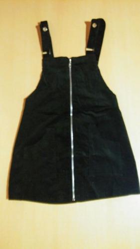 vestido jumper mini escombro de pana prima/verano 19