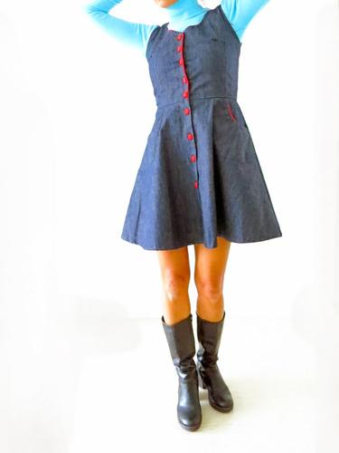 vestido jumper retro pin up - diseño independiente
