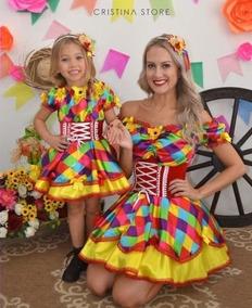 06144fbf1 Vestido De Festa Junina Mãe E Filha - Vestidos no Mercado Livre Brasil