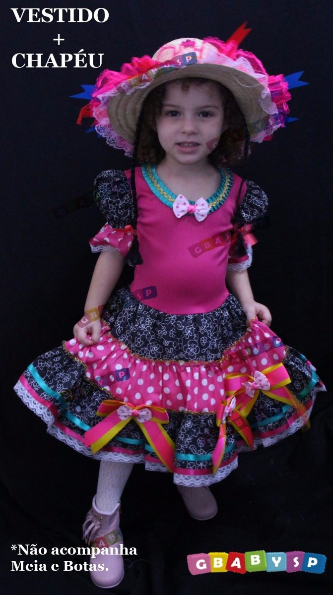 e43595fb3e3ca vestido junino festa junina caipira infantil luxo quadrilha. Carregando zoom .