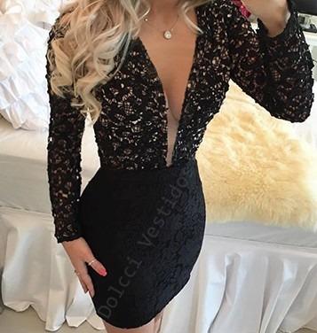 Vestido colado e transparente - 1 4