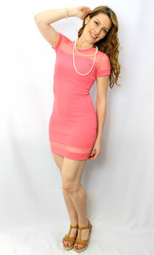 vestido juvenil coral - maat clothing