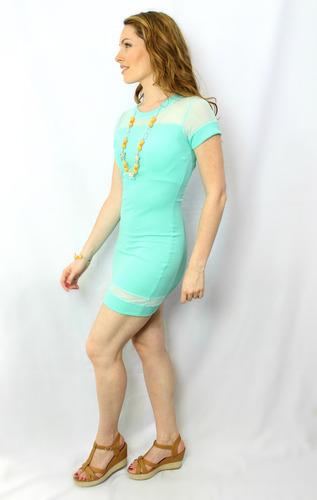 vestido juvenil menta - maat clothing