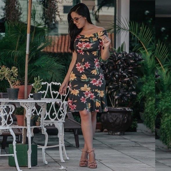 Vestido Kayllane Estampado Suplex Promoção - R  56 c37f8b447790
