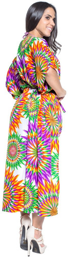 vestido kimono la leela informal largo d/playa likre p/mujer
