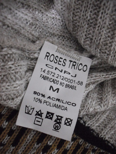 vestido lã manga longa tam m roses trico usado bom estado