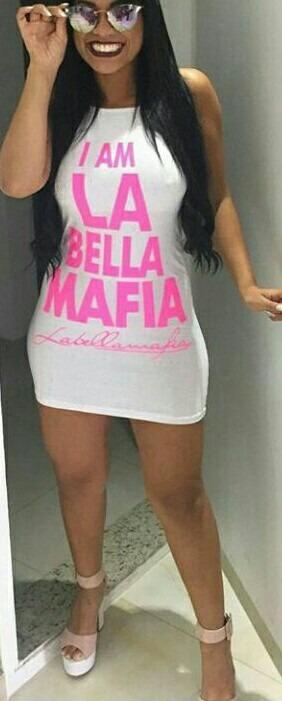 6f8d196ce Vestido La Bella Mafia Lançamento - R  34