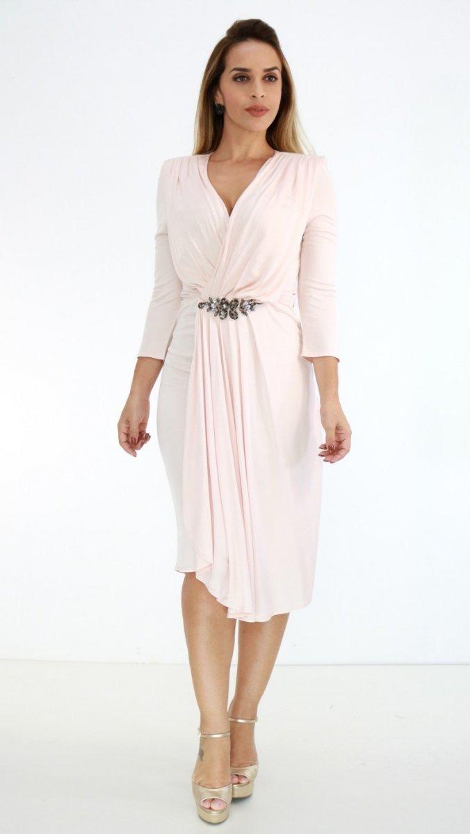 f52692f77 Vestido Lança Perfume Midi Redcarpet Rosa Claro Oi18 - R$ 797,00 em ...