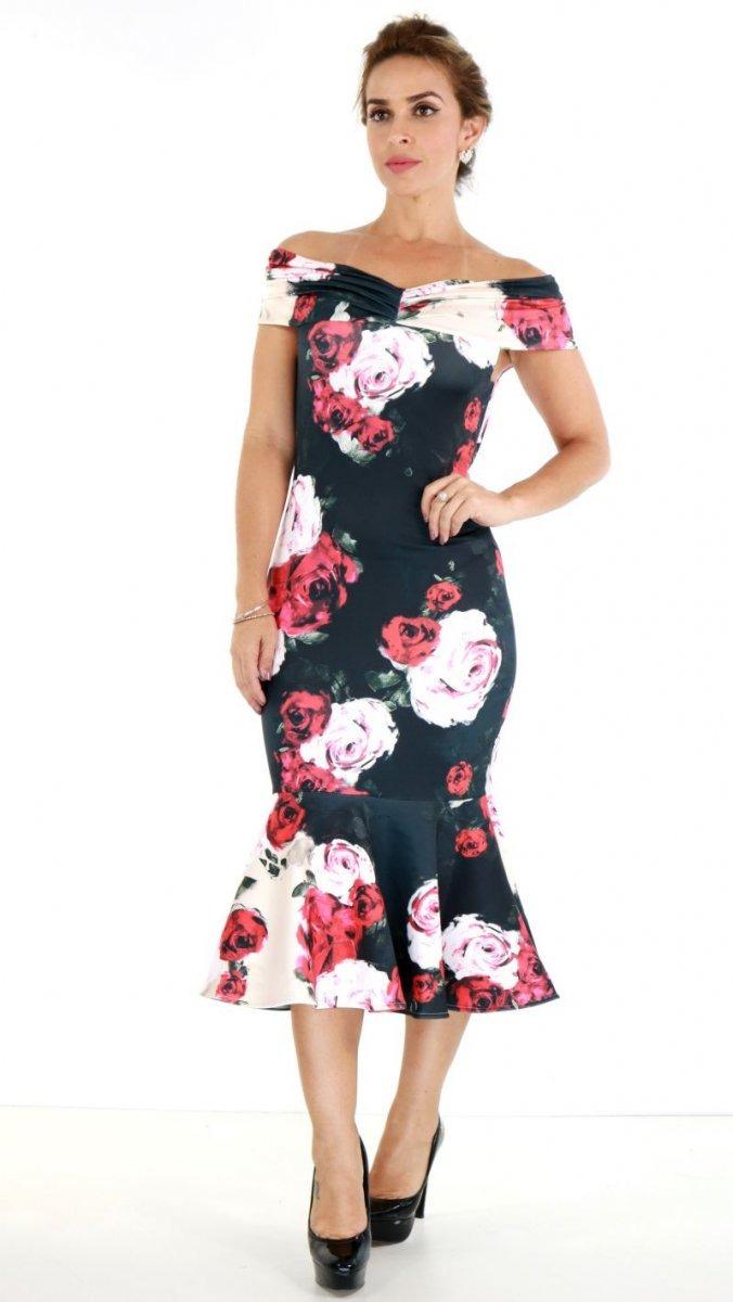 30dc1f5fa Vestido Lança Perfume Sueper Midi Floral Oi18 - R$ 537,00 em Mercado ...