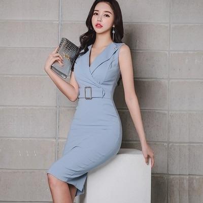 Vestido Lápiz Mujeres Elegantes Formal Oficina Trabajo 89000 En