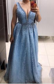 b26fcac8a2d4 Vestido Largo Azul