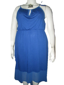 Vestido largo azul h&m