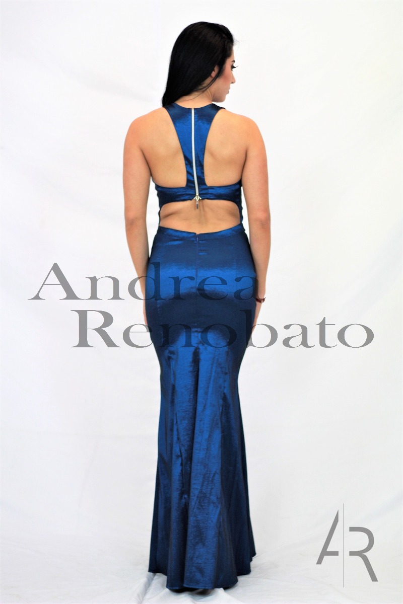 7f2e772f1b vestido largo azul petroleo p fiesta de andrea renobato. Cargando zoom.