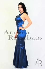 62b0f1a8b Vestido De Noche Azul Petroleo Con Cauda - Vestidos de Mujer en ...