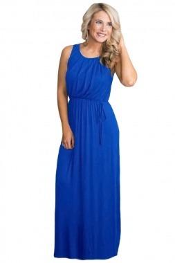 Vestido largo azul verano