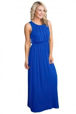 Vestido azul largo casual