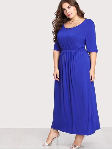 507280e5d Vestido Largo Azul Rey