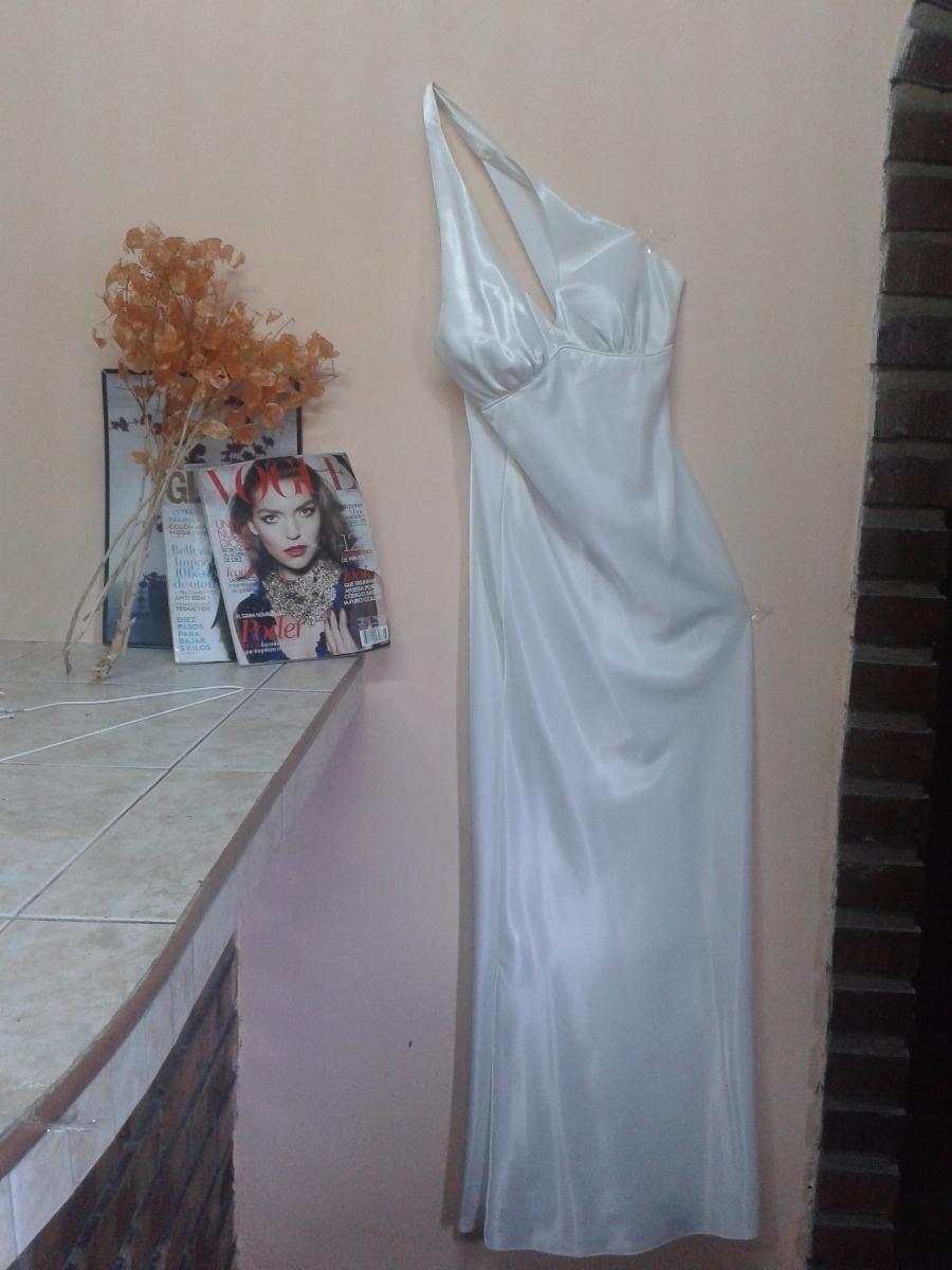 Vestido largo blanco de seda