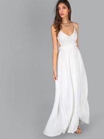 f4ee6a80036c Vestido Dorado Con Encaje Y Vestidos Largos Mujer - Vestidos de ...